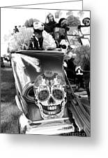 Chevy Decor Day Of Dead Bw Greeting Card