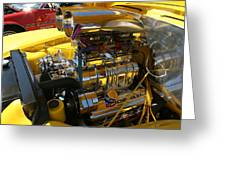 Chevy Motor - Side View Greeting Card