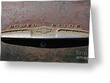 Chevy Power Glide Trunk Emblem Greeting Card