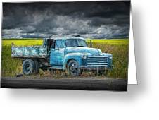 Chevy Truck Stranded By The Side Of The Road Greeting Card