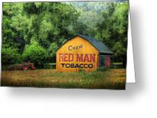 Chew Red Man Greeting Card