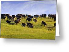 Cheyenne Cattle Roundup Greeting Card