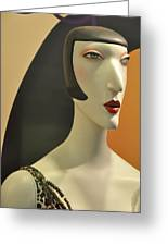 Chic Glamour Girl Greeting Card