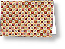 Chic Seamless Tile Pattern Greeting Card