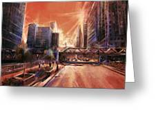 Chicaco Street 3 Greeting Card
