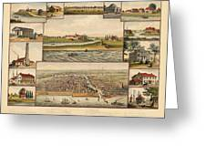 Chicago 1779-1857 Greeting Card
