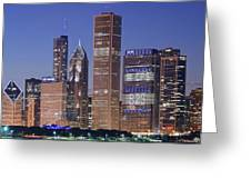Chicago 2018 Blue Hour Greeting Card