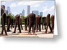 Chicago Agora Headless Statues Greeting Card