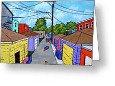 Chicago Alley Greeting Card