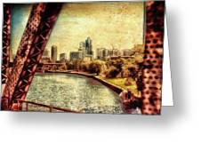 Chicago Approaching The City In June Textured Greeting Card