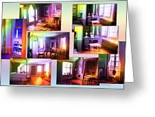 Chicago Art Institute Miniature Rooms Prismatic Collage Greeting Card