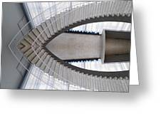 Chicago Art Institute Staircase Mirror Image 01 Greeting Card
