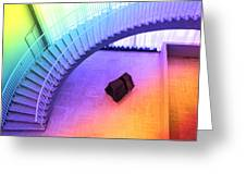 Chicago Art Institute Staircase Pa Prismatic Greeting Card