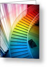Chicago Art Institute Staircase Pa Prismatic Vertical 02 Greeting Card