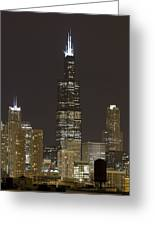 Chicago At Night Greeting Card
