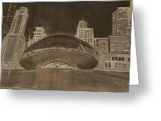 Chicago Bean Greeting Card