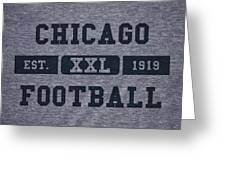 Chicago Bears Retro Shirt Greeting Card