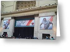 Chicago Bears Union Station Greeting Card