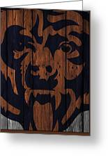 Chicago Bears Wood Fence Greeting Card
