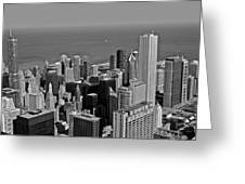 Chicago Birdview Greeting Card