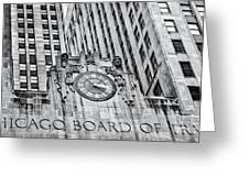 Chicago Board Of Trade Bw Greeting Card
