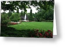 Chicago Botanical Gardens Landscape Greeting Card