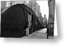 Chicago Bridge  Greeting Card