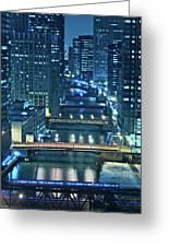 Chicago Bridges Greeting Card by Steve Gadomski