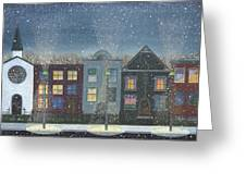 Chicago Brown Stones Greeting Card by Thomas Griffin
