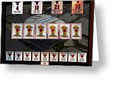 Chicago Bulls Banners Collage Greeting Card