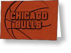 Chicago Bulls Leather Art Greeting Card