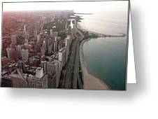 Chicago Coastline Greeting Card