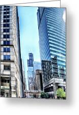 Chicago Concrete Canyons Greeting Card