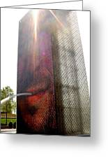 Chicago Crown Fountain 4 Greeting Card