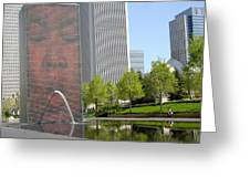 Chicago Crown Fountain 8 Greeting Card