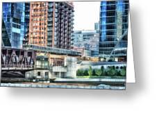 Chicago Cta Lake Street El In June Greeting Card