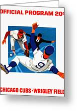 Chicago Cubs 1974 Program Greeting Card