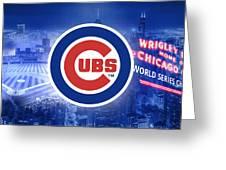 Chicago Cubs Baseball Greeting Card