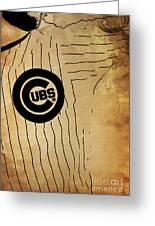 Chicago Cubs Baseball Team Vintage Card Greeting Card