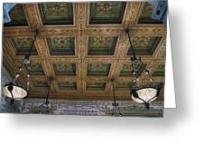 Chicago Cultural Center Staircase Ceiling Greeting Card
