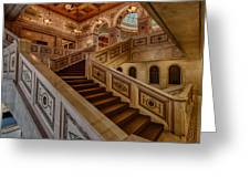 Chicago Cultural Center Stairs Greeting Card by Mike Burgquist