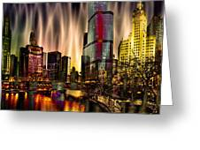 Chicago Draws The Curtain Greeting Card