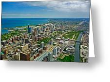 Chicago East View Greeting Card