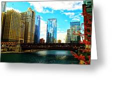Chicago Fall Greeting Card