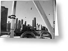 Chicago Ferris Wheel Skyline Greeting Card