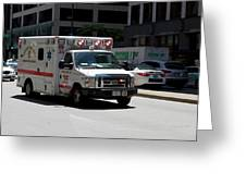 Chicago Fire Department Ems Ambulance 35 Greeting Card