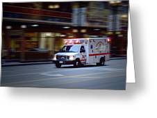 Chicago Fire Department Ems Ambulance 74 Greeting Card