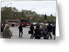 Chicago Fire Department Truck 13 Greeting Card