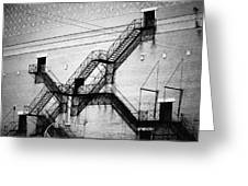 Chicago Fire Escapes Landscape Greeting Card