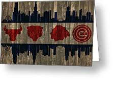 Chicago Flag Barn Door Greeting Card